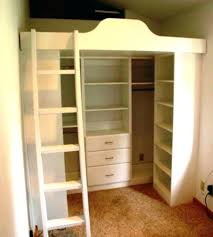 Bunk Beds In Wall Lofted Bed With Closet Underneath Wall Bed Bunk Beds With Closets