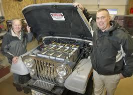 old jeep in geneva teacher gives old jeep new electrical power nebraska