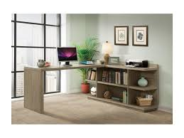 Desk With Outlets by Riverside Furniture Perspectives Peninsula Bookcase Desk With