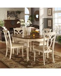 Spring Into Savings On Shayne Country Antique Twotone White - Tribecca home mckay country antique white pedestal extending dining table