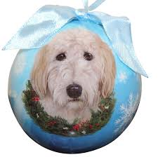 amazon com goldendoodle christmas ornament shatter proof ball