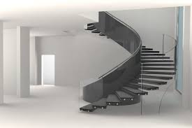 Cheap Banister Ideas Furniture Concrete Staircase For Artistic Concept In Minimalist