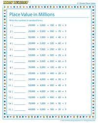 free worksheets place value and rounding worksheets 3rd grade