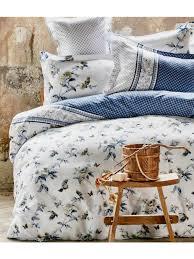 satin duvet cover delmare double blue karaca home tableware