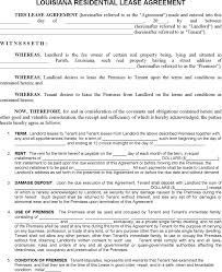 download louisiana residential lease agreement form for free
