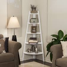 White Ladder Shelves by Top 25 Corner Bookshelf And Corner Bookcase Review