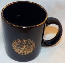 vintage black mercedes daimler benz coffee mug cup 22k emblem logo