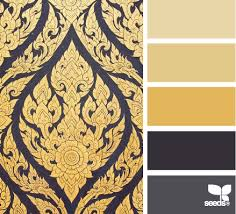 gold and gray color scheme mix board gray yellow cream colori pinterest design seeds