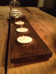 candle runners recycled wood pallet tea light candle holder by daddytellmeastory