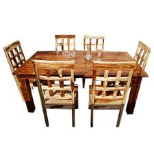 contemporary 7pc waffle back dining room table set