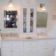 Bathroom Vanity Outlets by Custom White Bathroom Vanity With Tower By Wooden Hammer Llc