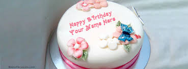 birthday cake fb cover with name