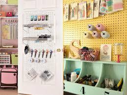 Peg Board Shelves by Art Studio 16 Pegboard Organizing Tips