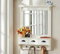 diy mirror coat rack pb entryway organizer mirror knockoff moky