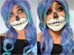 Skeleton Face Paint For Halloween by Mishmreow Skull Mask Halloween Makeup