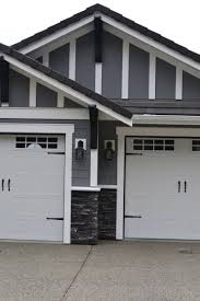 Garage Door Exterior Trim Exterior With Chelsea Gray Colour Hardiboard With White Trim