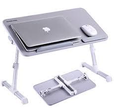 Portable Standing Laptop Desk 27 Adjustable Laptop Table Superjare Portable Standing Desk