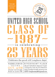 ideas for 50th class reunions class reunion invitations custom color digital file or print