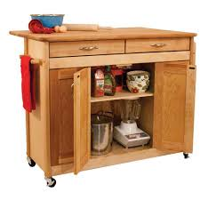 catskill craftsmen 38 in wide butcher block kitchen island with