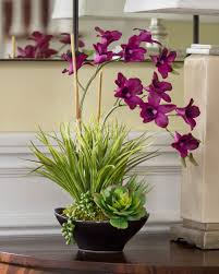 dendrobium orchid lifelike dendrobium orchids succulents accent planter at petals