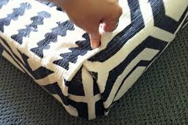 Upholstering An Ottoman Diy Rug Ottoman