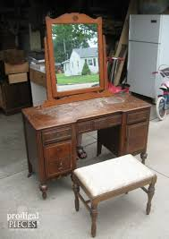 mom transforms old desk on the curb into a beautiful vanity