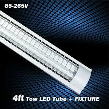 4ft Fluorescent Light Fixture Replacing Fluorescent Light Fixture With Led Full Image For Led