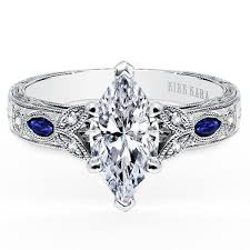 engagement rings sapphires images Kirk kara dahlia marquise cut blue sapphire diamond engagement ring jpg