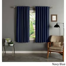solid 63 inch insulated thermal blackout panel pair ping great deals on curtains