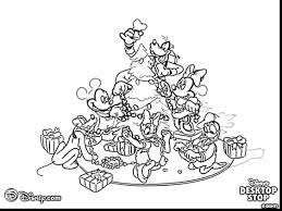 outstanding disney christmas coloring pages with christmas tree