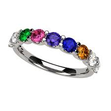 family birthstone rings rings mothers rings nana u r family ring 1 to 9 birthstones