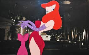 jessica rabbit original walt disney production cel on copy background from who