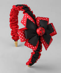 ladybug ribbon take a look at this ladybug ribbon bow headband by the bow