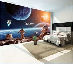 online buy wholesale universe 3d wall murals wallpaper from china modern photo wallpaper star earth space universe moon wall paper 3d large mural living room sofa