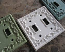 Shabby Chic Switch Plate by Double Switch Plate Etsy