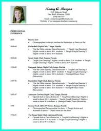 Sample Dance Resume For Audition by Dance Resume Template Resume Templates