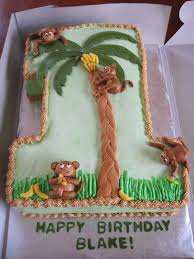 baby shower cakes 1st birthday monkey cake