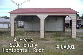 Car Port Roof A Frame Carport Horizontal Boxed Eve