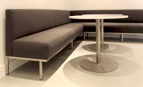 Dining Room Banquette Bench by Furniture Stainless Steel Dining Table Design With Banquette