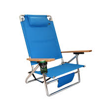 Rio Sand Chairs Titan Lay Flat Aluminum Folding Beach Chair Light Blue Layflat