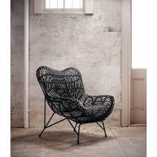 cowan modern classic black metal wicker chair kathy kuo home