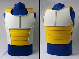 Saiyan Halloween Costume Cosplay Dragon Ball Saiyan Armor Vest Dbz Costume Yellow White
