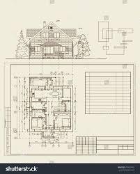 floor plan for residential house authors design residential house blueprint plan stock vector