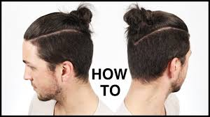 how to tie the perfect man bun top knot men u0027s hairstyle ideas