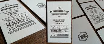 8 exles of letterpress business cards for your inspiration and