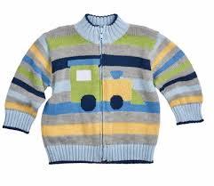 eiseman baby toddler boys blue green yellow striped intarsia