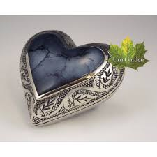 ashes keepsake urns for ashes mystic blue heart keepsake
