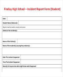 school incident report template 33 incident report templates free premium templates