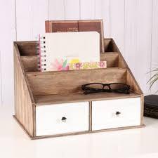 Wood Desk Drawer Organizer Desktop Organizers You U0027ll Love Wayfair