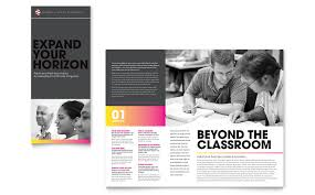 tri fold brochure publisher template education business school tri fold brochure template
